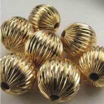 Gold Plate 17MM Fluted Ball