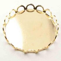 Gold Plate 18MM Lace Edged Setting