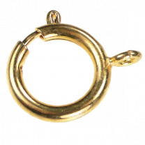 Gold Plate 18MM Spring Ring Clasp