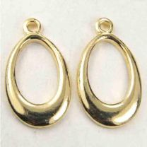 Gold Plate 18X10MM Oval Ring Pendant or Clasp Connector