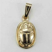 Gold Plate 18x14 Scarab Cast