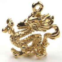 Gold Plate 19MM Dragon Of The Chinese Zodiac