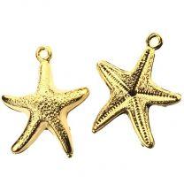 Gold Plate 24x14MM Starfish