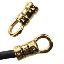 Gold Plate 2MM Cord Crimp End