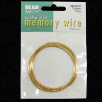 Gold Plate 2 inch Memory Wire