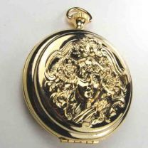Gold Plate 44MM Locket Watch Case With Female Face Detail