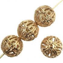 Gold Plate 7MM Filigree Ball