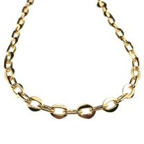 Gold Plate 8x6MM Flat Oval by 8x4MM Round Oval Cable Chain