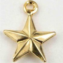 Gold Plate 9MM Hollow 3D Star