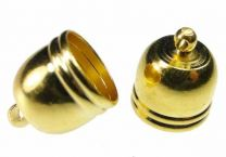Gold Plate Cord End for 10MM Cord