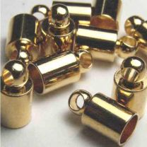 Gold Plate Looped End Cap 4MM