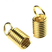 Gold Plate Wound Wire Cord End for 3MM Cord
