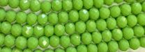 Green 6x4MM Faceted Rondelle