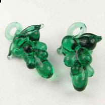 Green Grape Blown Glass 20x16MM Pendant