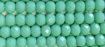 Green Turquoise 6x4MM Faceted Rondelle