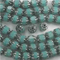 Green_Turquoise_With_Silver_Ends_6MM_Fire_Polish_Cathedral_