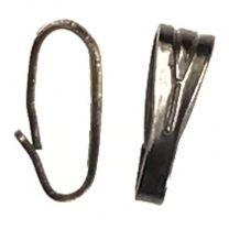 Gunmetal Plate 6X2MM Snap On Bail Hanger