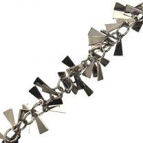 Gunmetal Plate 8MM Triangle Dangle Chain