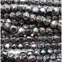 Hematite Vintage 4MM English Cut Ball