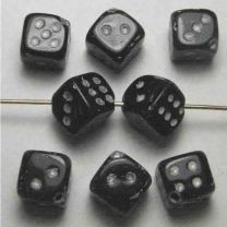 Jet_10MM_Dice_Bead_With_Gold_D