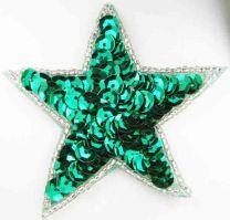Kelly Green Sequin Star Motif