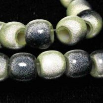 Lime with Black 2 Tone 7x8MM Miracle Crow Bead