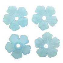 Matte Aqua 14MM 3-D Acyrlic Blossom