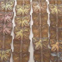 Matte Colorado Topaz AB 12x15MM Butterfly