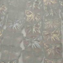 Matte Crystal AB 12x15MM Butterfly