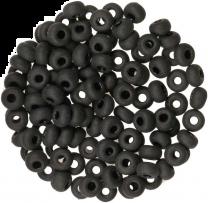 Matte Jet Black Seed Bead