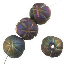 Matte Scarabee 14MM Raku Style Star Incised Ball