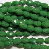 Medium Green 7x5MM Fire Polish Oval