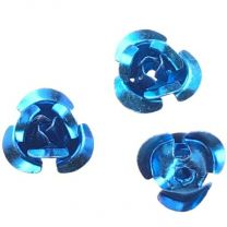 Metallic Dark Blue Turquoise 9MM Aluminum Rose