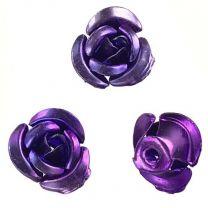 Metallic Purple 9MM Aluminum Rose