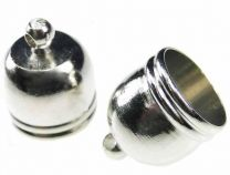 Nickel Silver Plate Cord End for 10MM Cord