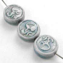 Om_Peruvian_Ceramic_Coin_Shape