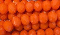 Orange 8x6MM Faceted Rondelle