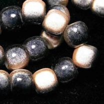Peach with Black 2 Tone 7x8MM Miracle Crow Bead