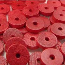 Red Wood Disk 8X2MM