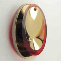 RubyGold Dished Oval 25x18MM