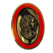 Ruby Cameo with Gold 25X18MM