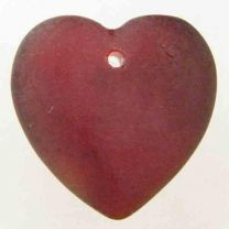 Ruby_Matte_Heart_17MM_With_Set