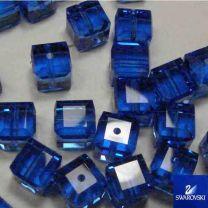 Saphire_6MM_Cut_Cube_Swarovski