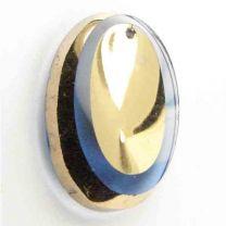 SapphireGold Dished Oval 25x18MM