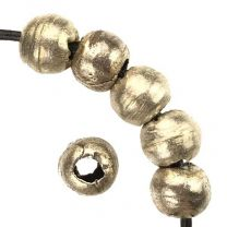 Silver 8-9MM Hand Formed Ball With 2MM Hole