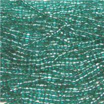 Silver Lined Blue Zircon 90 3 Cut Seed Bead
