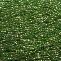 Silver Lined Peridot Seed 90 3 Cut Seed Bead