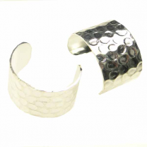 Silver Plate 10MM Wide Hammered Ear Cuff