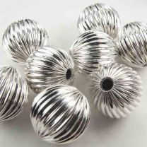 Silver Plate 17MM Fluted Ball