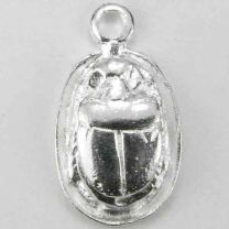 Silver Plate 18x14 Scarab Pend